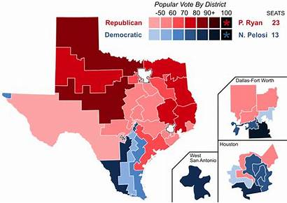 Texas Representatives States United Elections District Results