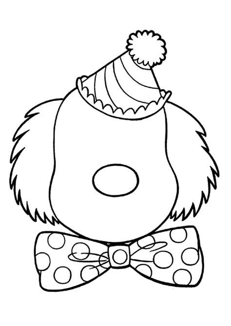 Kleurplaat Clown Strik by Coloriage Visages Sur Hugolescargot