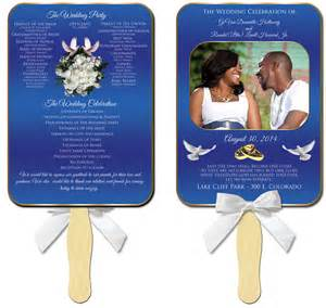 wedding program template fan fans for weddings quotes