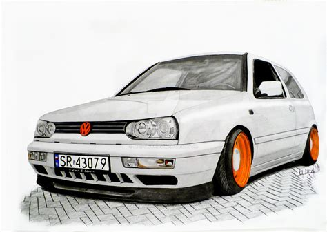 Vw Golf Mk3 Drawing By Hary1908 On Deviantart