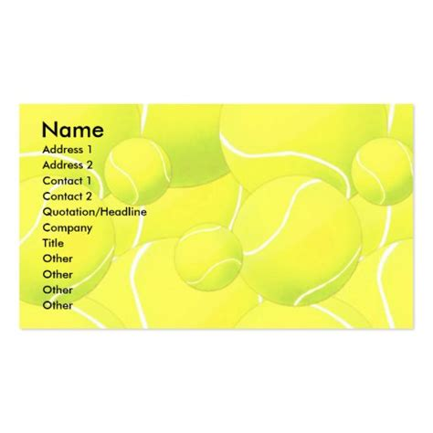 profile card template tennis double sided standard