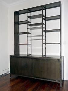 Bibliothques En Metal Acier Et Bois Patin