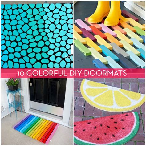 Colorful Doormat by 10 Colorful Diy Doormats To Get You In The Summer Mood