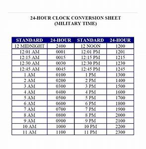 30 printable military time charts template lab With 24 hour time chart template