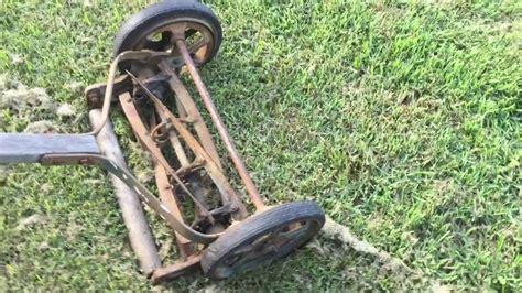 reel mower vintage american mower company reel mower