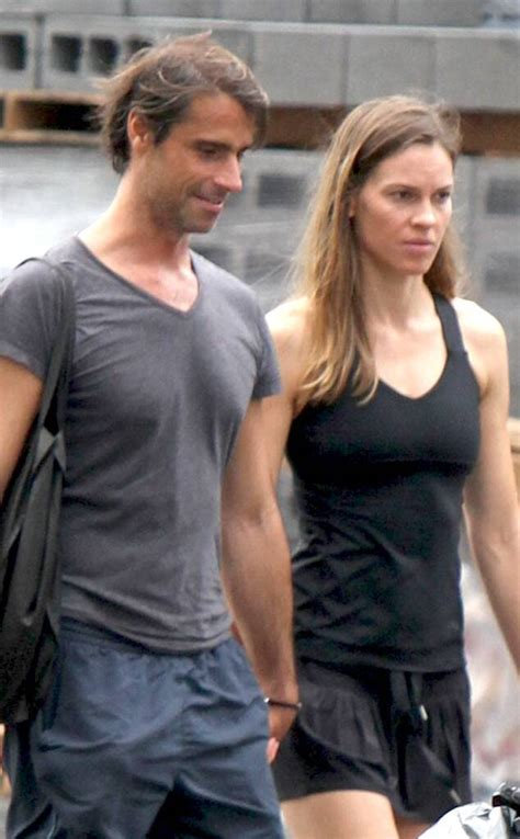 hilary swank shows  bikini bod   beach