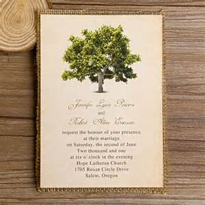 personalized favor bags green tree burlap layered wedding invitations