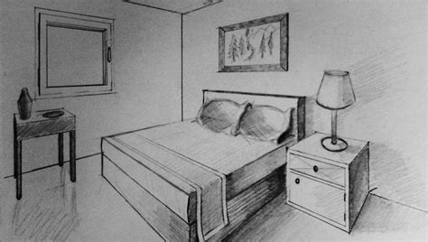 Drawing A Bedroom In One Point Perspective by 2 Point Perspective Bedroom 1 30 17 1 Inspiration