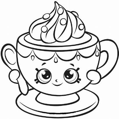 Shopkins Coloring Teacup Season Shopkin Tiny Colorear