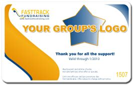 fundraising cards  discount card fundraisers