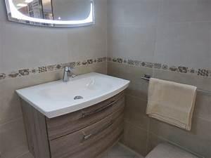 emejing idee deco salle de bain beige pictures With salle de bain decoration