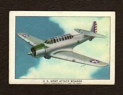 Maybe you would like to learn more about one of these? 1940's Wings Cigarettes Airplane Trading Card #14 Attack ...