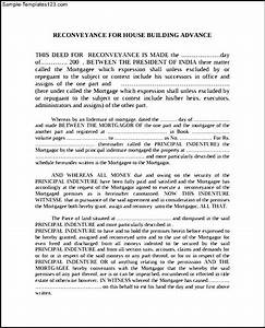 deed of re conveyance form example sample templates With deed of conveyance template