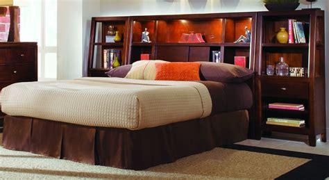 queen bookcase headboard loccie  homes