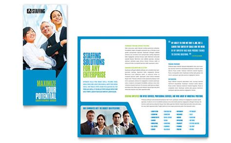 Recruiting Brochure Template by Staffing Recruitment Agency Brochure Template Design