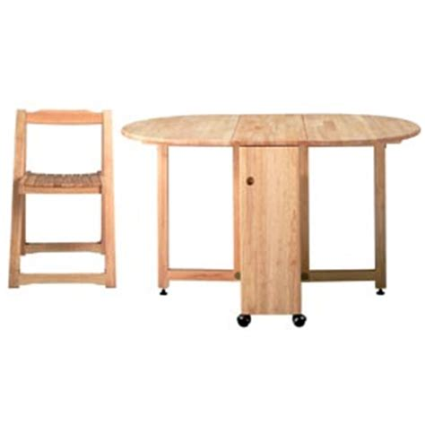 butterfly folding table and four chairs dining furniture
