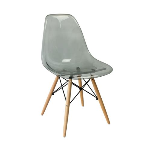 eames dsw style chair clear smokey greys hong kong at 20