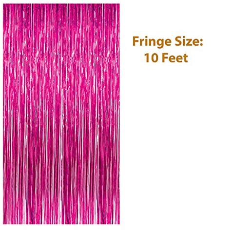 Pink Foil Fringe Curtain by Pink Happy Birthday Banner Decorations Pink Metallic