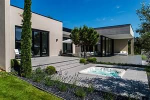 terrasse bois maison contemporaine nos conseils With terrasse de maison contemporaine