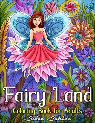 fairy land coloring book  adults  sachin sachdeva