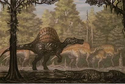Spinosaurus Ouranosaurus Abelov2014 Deviantart Dinosaurs Painting Animals