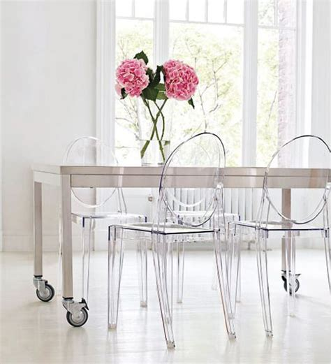 ghost chairs metal table design inspirations