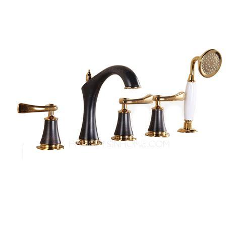 Faucet Set by Antique Black Brushed Sidespray Five Set Bathtub Faucet