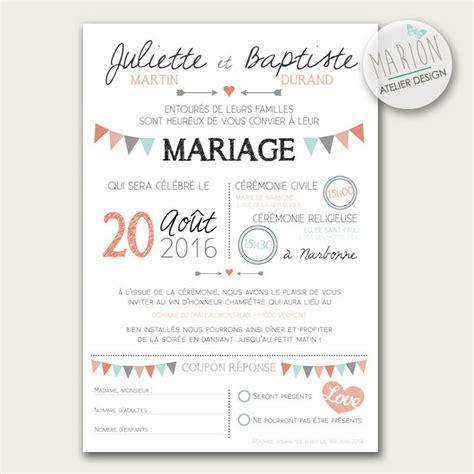 modèle faire part mariage gratuit les 25 meilleures id 233 es de la cat 233 gorie faire part mariage