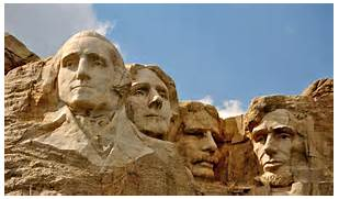 realistic those are the four faces chiseled into mount rushmore  Rushmore