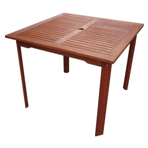 Buy Outdoor Table by Tropical Outdoor Wooden Square Dining Table 80cm Buy