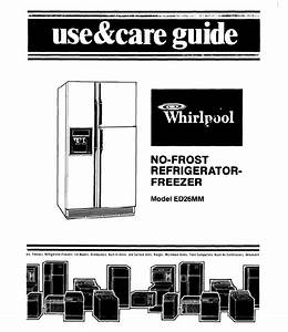 Whirlpool Refrigerator Ed26mm User Guide