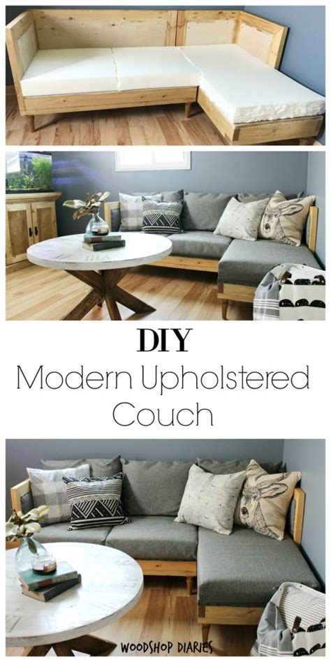 diy couch   build  upholster   sofa