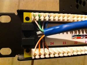 How To Punch Down Wires Into Patch Panels