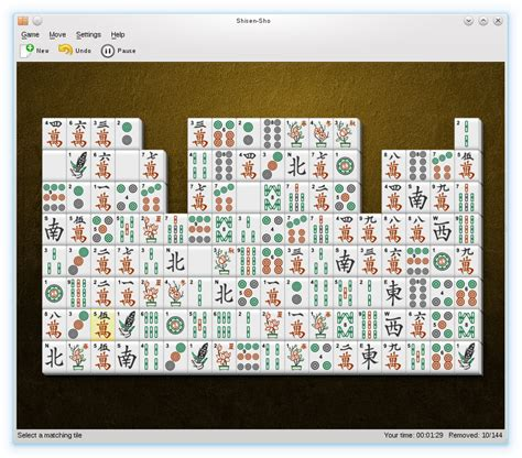 kde kshisen shisen sho mahjongg like tile game