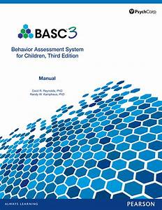 Behavior Assessment System For Children  Third Edition