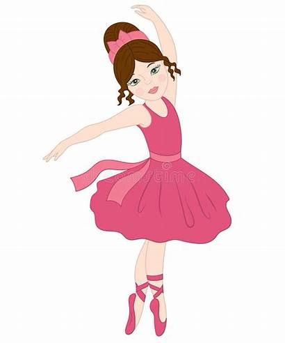 Ballerina Vector Brunette Clipart Dancing Pink Ballet