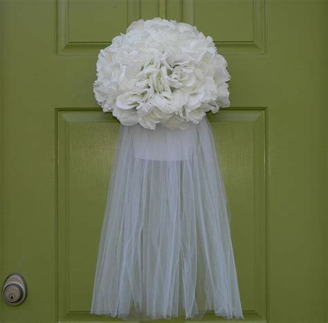 Wedding Wreath Bridal Veil Wreath Wedding Shower