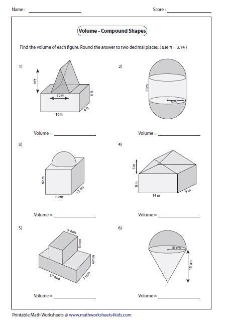 volume of composite figures worksheet 5th grade newatvs info