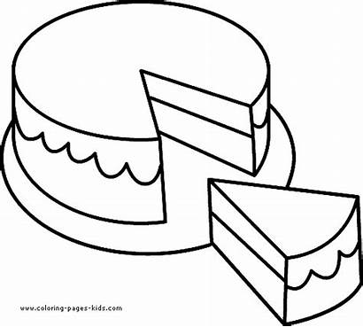 Coloring Cake Pages Plate Colouring Clipart Sheets
