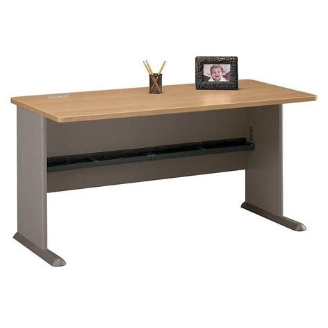 bush series a desk bush bbf series a 60w desk in light oak wc64360