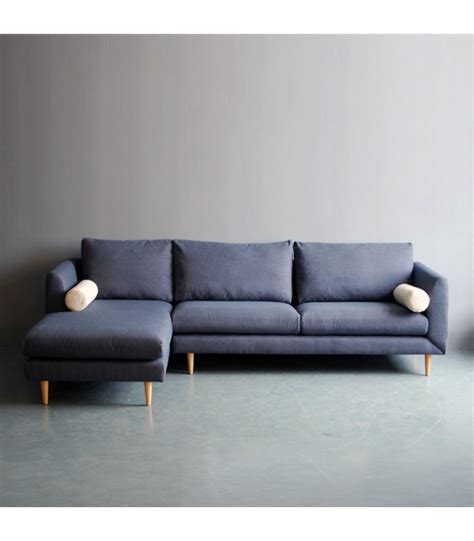 l sofa bleu l shaped sofa mountain teak