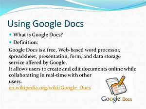 Using google docs for Google documents definition