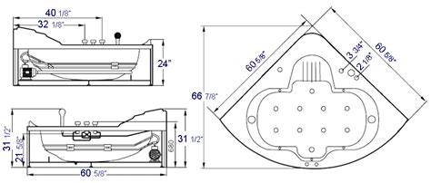 Whirlpool Tub Sizes by Ariel Platinum Am 505 Whirlpool Bathtub Ariel Platinum