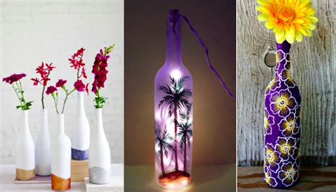 bureau verre 12 idées pour relooker vos bouteilles en verre en objets
