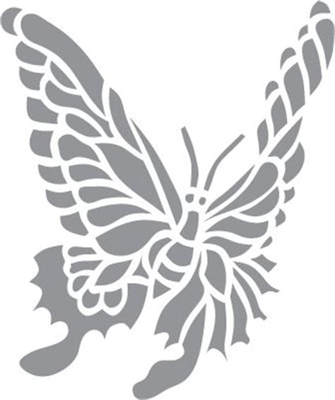Glass Etching Stencil Of Butterfly In Category Other