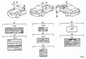Lexus Sc 400 Label  Plate  Fuel Caution  Fuel Information