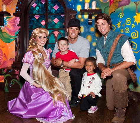 Tom brady and the tampa bay buccaneers eliminated drew brees and the new orleans saints from the playoffs on sunday night. Quarterback Tom Brady Celebrates with Family at Disneyland ...