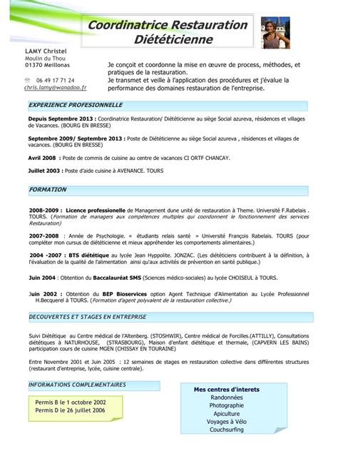 lettre de motivation cap cuisine modele cv restauration collective cv anonyme