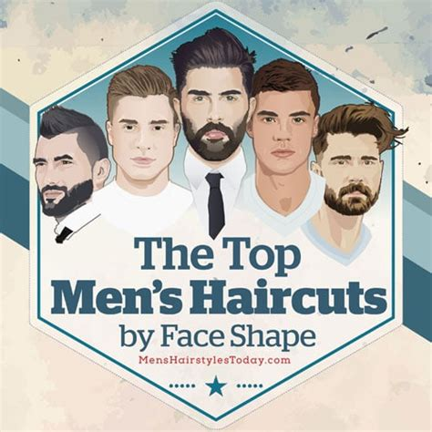 mens haircuts   face shape  illustrated guide