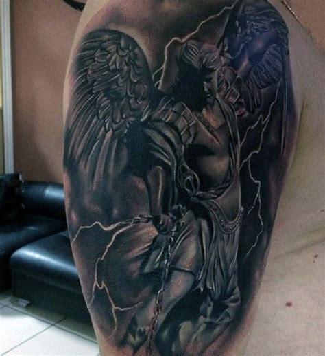 selected guardian angel tattoos  men parryzcom